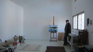 John Climenhage in the studio