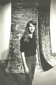 Early photo of Dorothy Caldwell courtesy Artspace archives