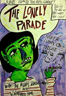 The Lonely Parade poster with art by Luna Slater