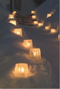 Ice candles - photographer unknown