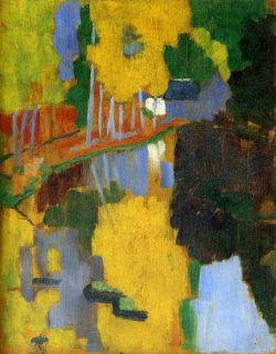 Paul Sérusier (1864-1927) The Talisman, the Aven River at the Bois d'Amour October 1888 Oil on wood H. 27cm; W. 21 cm