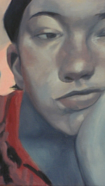 Detail of painting by Avery Morris