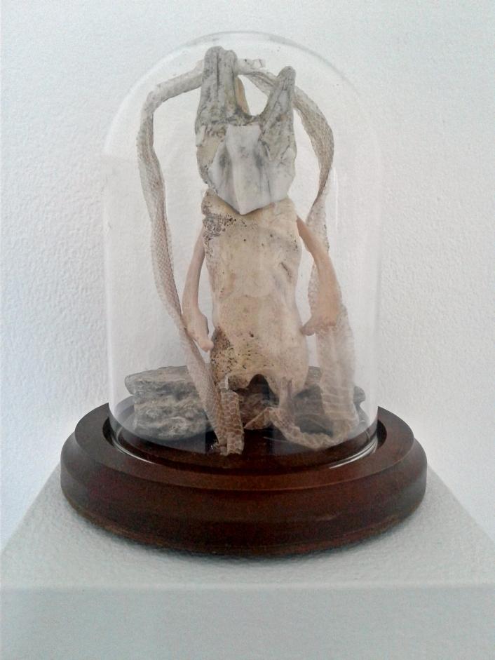 Tara Azzopardi Scroll Serpent King Bone, igneous rock, snakeskin