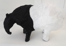 B. Leigh Macdonald Tapir Papier maché, chicken wire, plaster bandage, acrylic paint